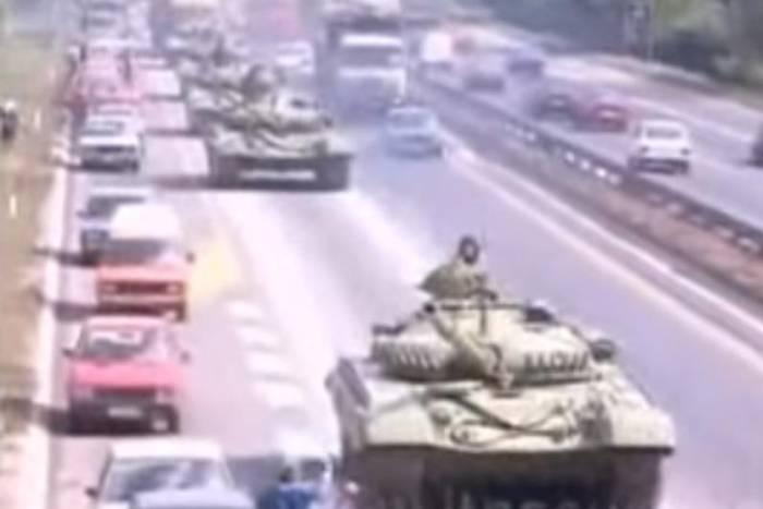 Beograd - Tenkovi krenuli na Vukovar