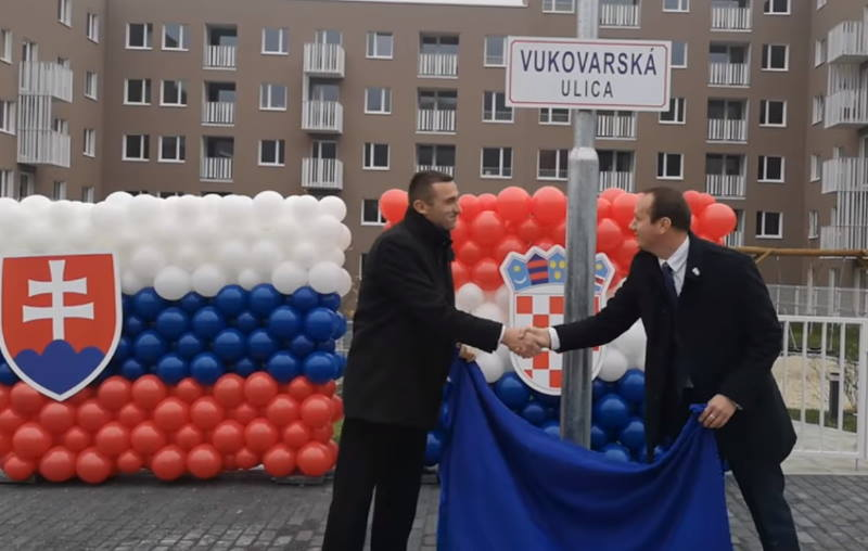 """Bratislava dobila Vukovarsku ulicu, Penava poručio: """"Izuzetno sam zahvalan i ponosan"""""""